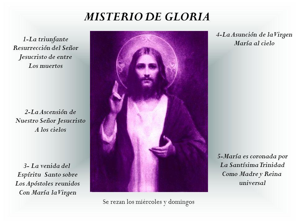 MISTERIO DE GLORIA 4-La Asunción de la Virgen María al cielo