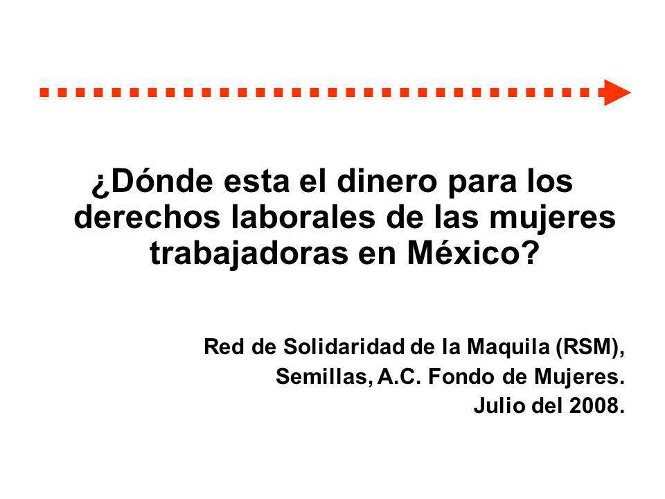 ¿Dónde esta el dinero para los derechos laborales de las mujeres trabajadoras en México