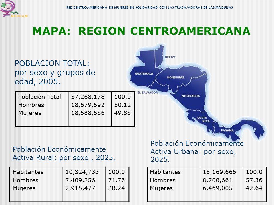 MAPA: REGION CENTROAMERICANA