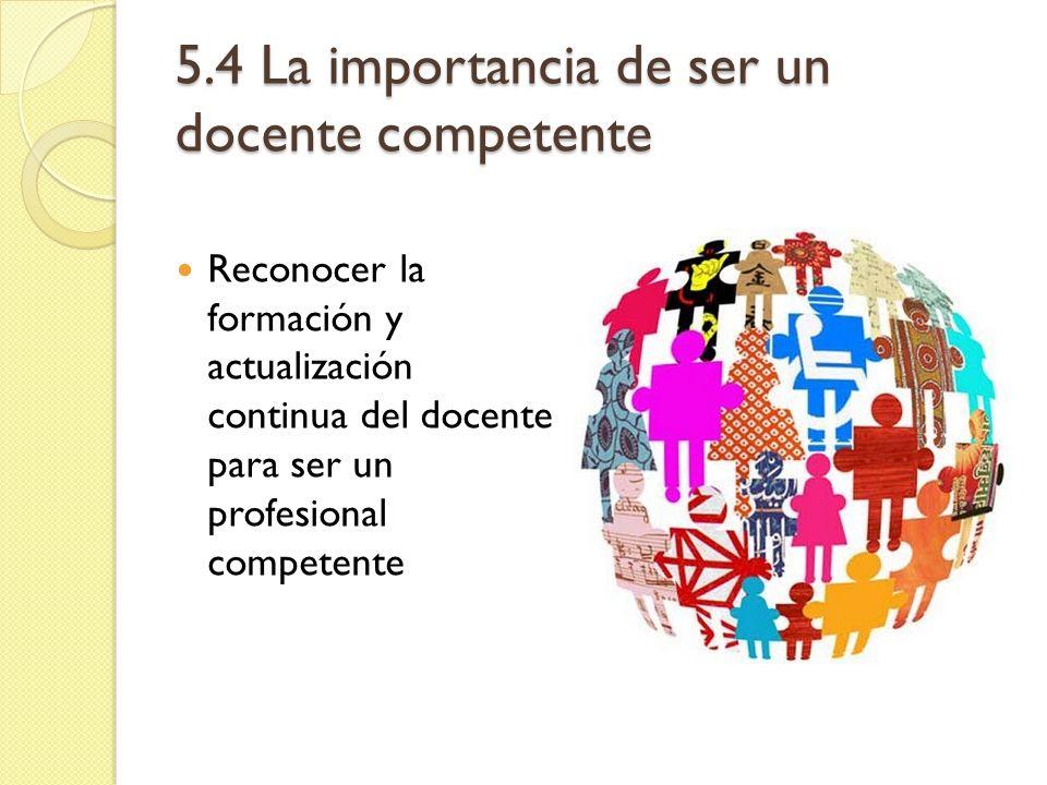 5.4 La importancia de ser un docente competente
