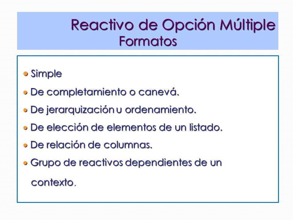 Reactivo de Opción Múltiple