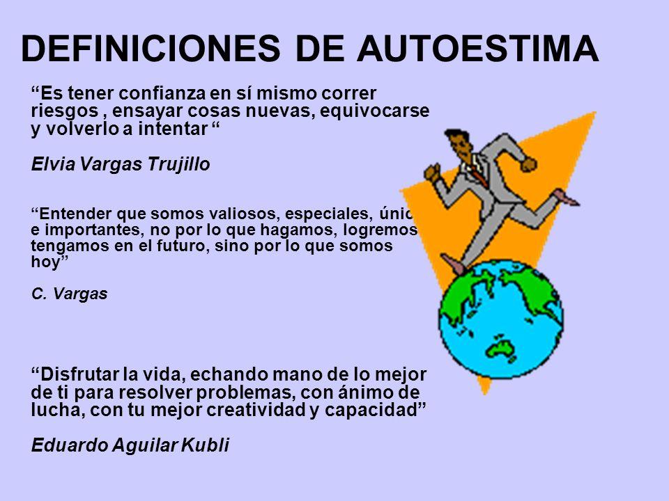 DEFINICIONES DE AUTOESTIMA