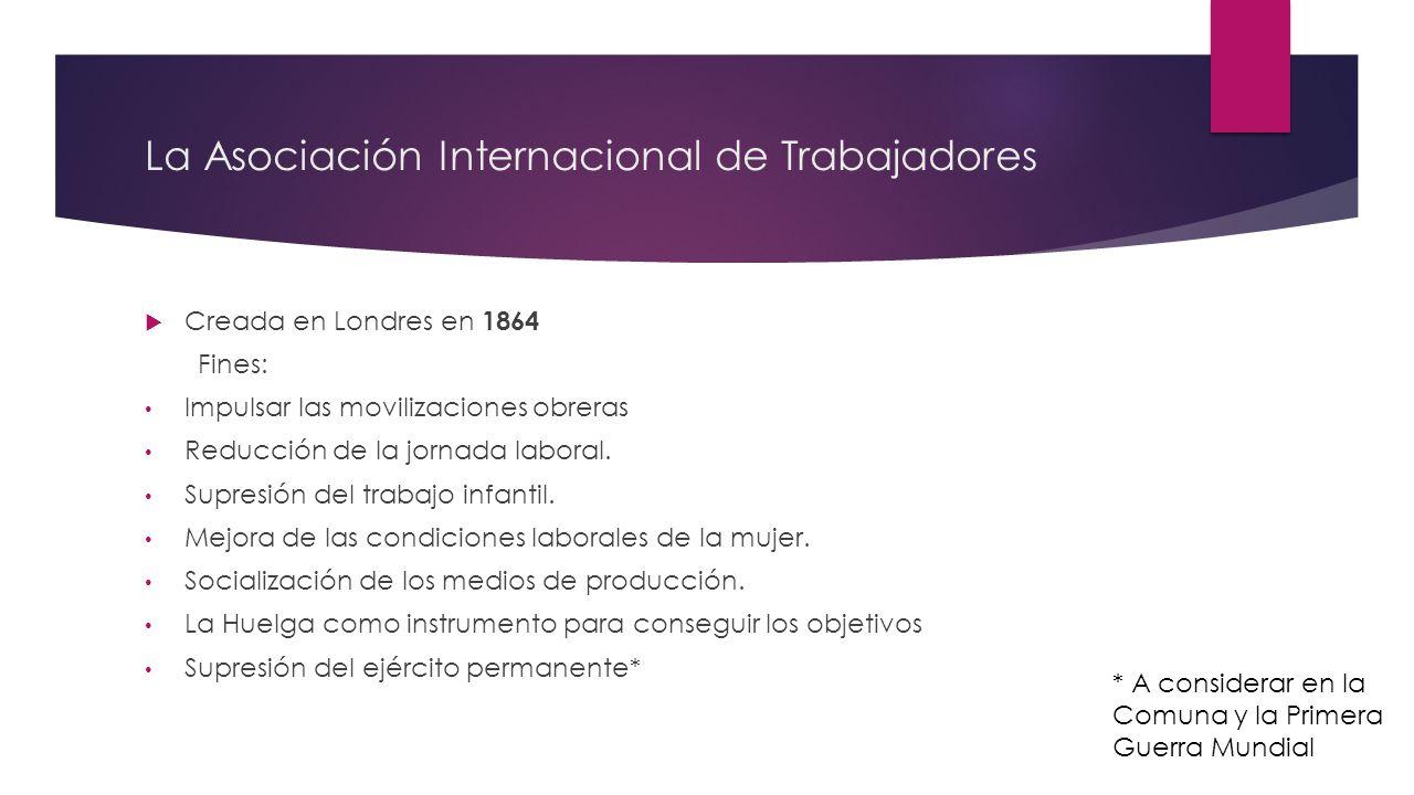 La Asociación Internacional de Trabajadores
