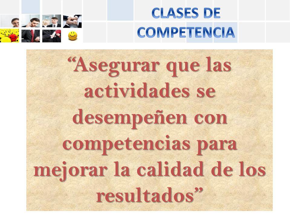 CLASES DE COMPETENCIA.