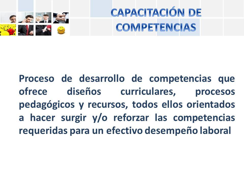 CAPACITACIÓN DE COMPETENCIAS
