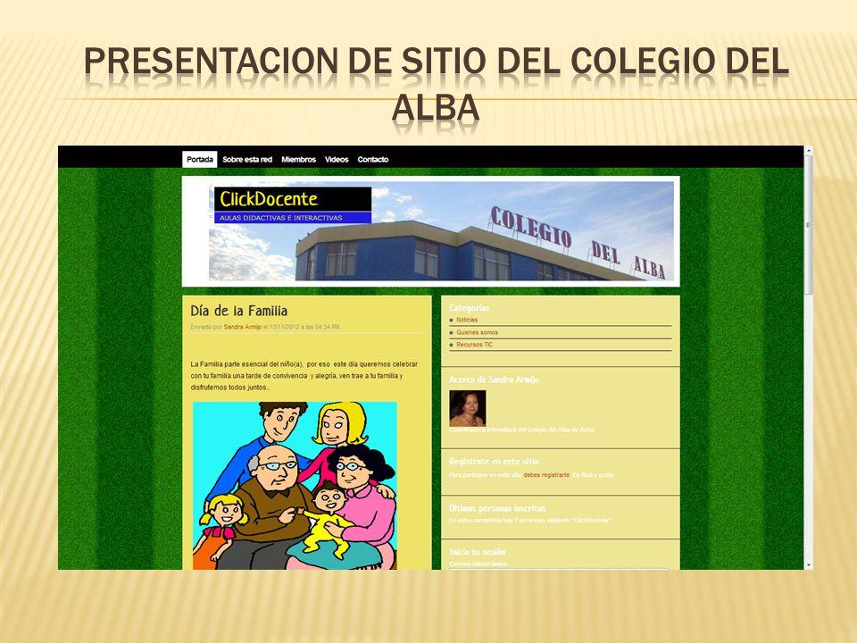 Presentacion de SITIO del Colegio del alba