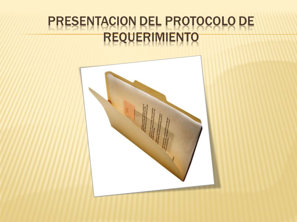 Presentacion del protocolo de requerimiento