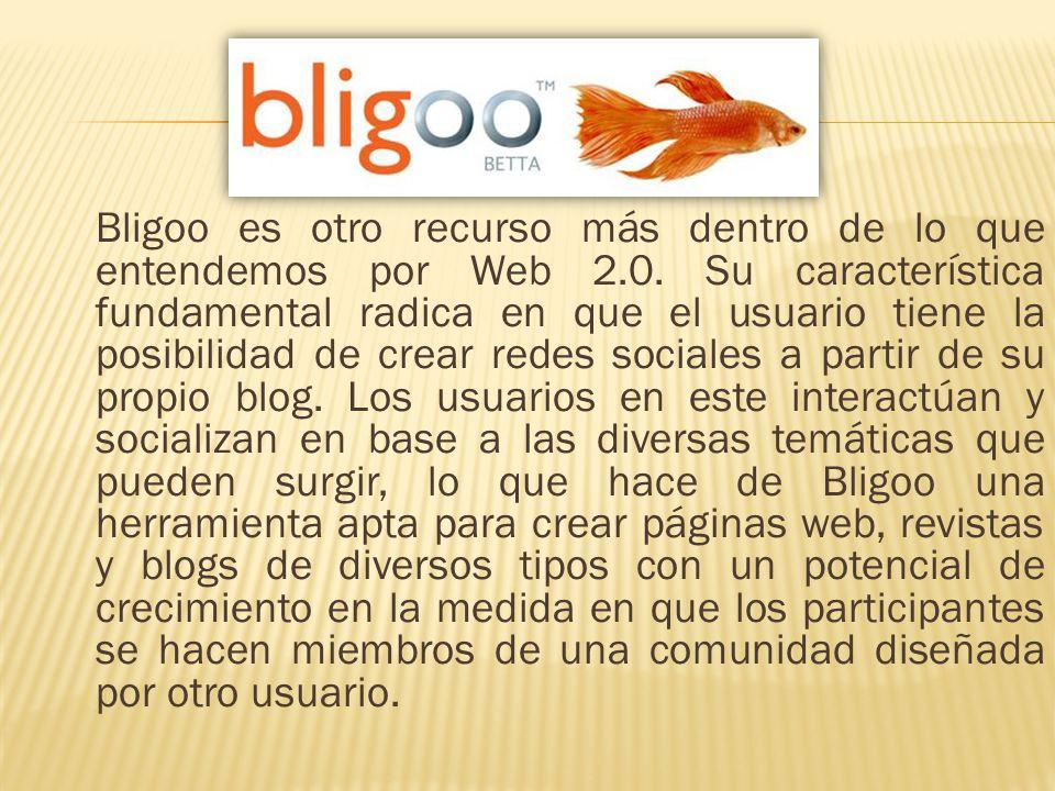 Bligoo es otro recurso más dentro de lo que entendemos por Web 2
