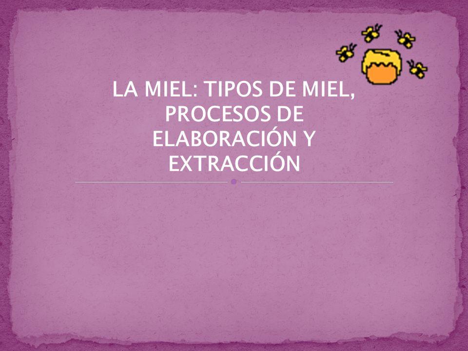 LA MIEL: TIPOS DE MIEL, PROCESOS DE ELABORACIÓN Y EXTRACCIÓN
