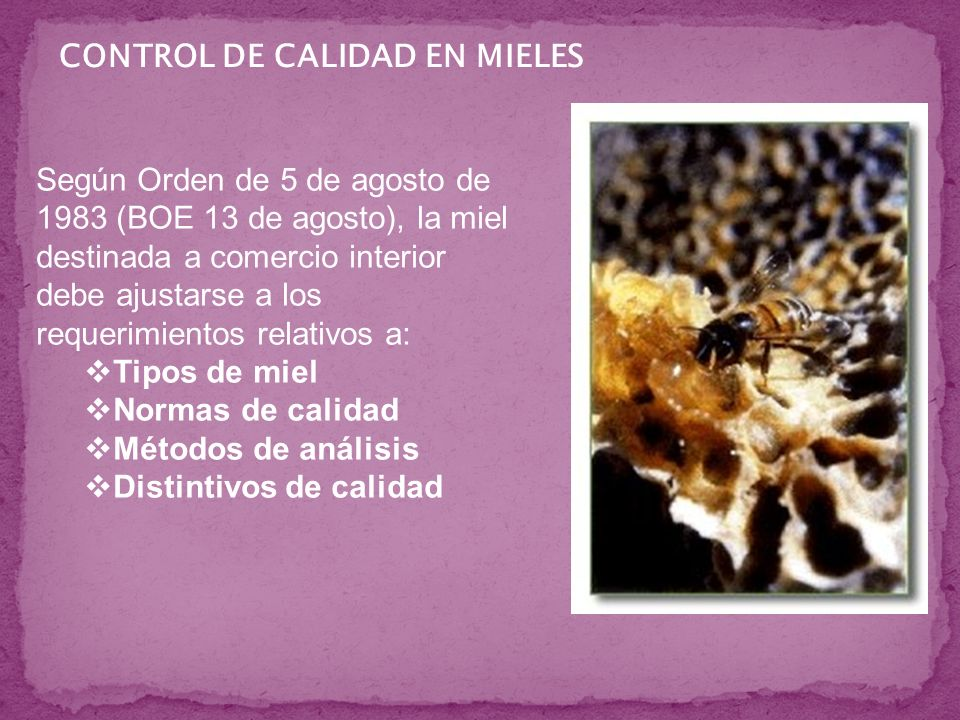 CONTROL DE CALIDAD EN MIELES