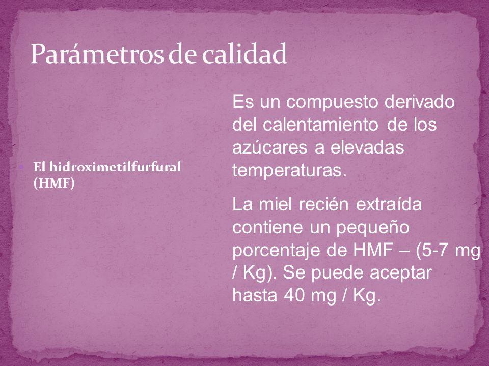 Parámetros de calidad Es un compuesto derivado del calentamiento de los azúcares a elevadas temperaturas.
