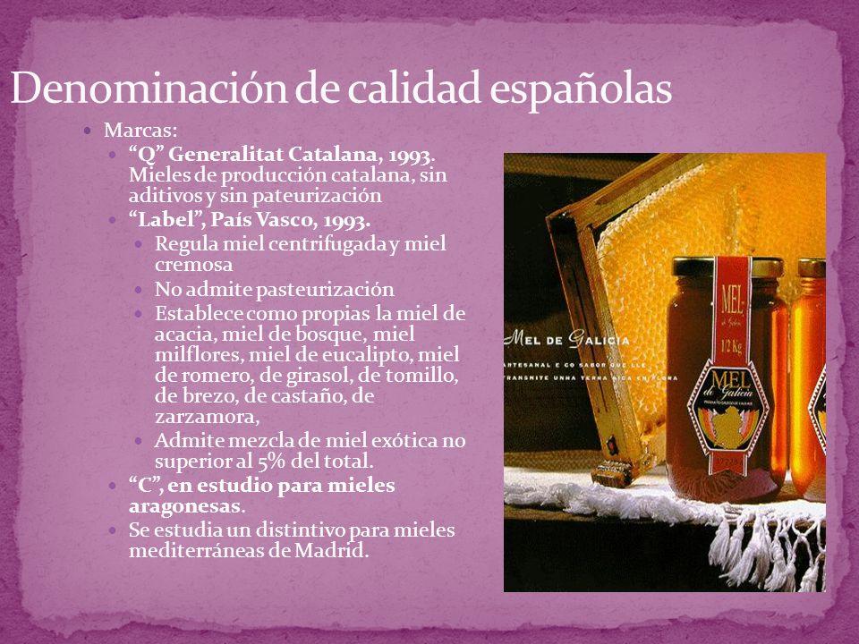 Denominación de calidad españolas