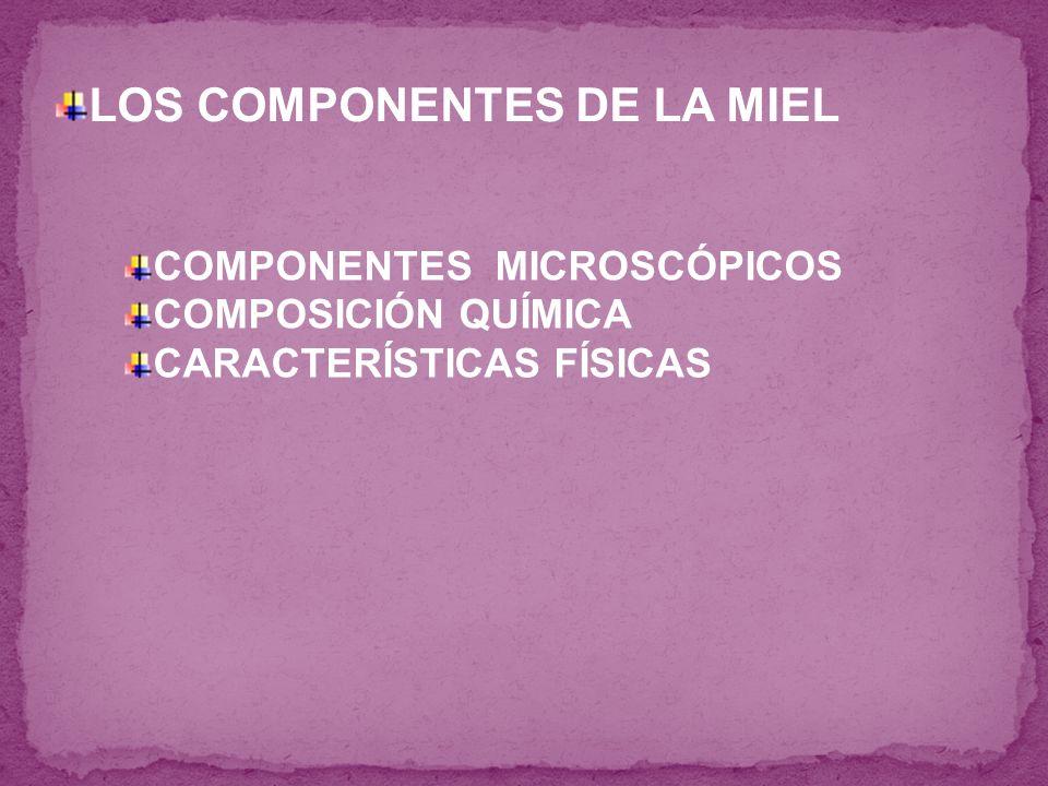LOS COMPONENTES DE LA MIEL