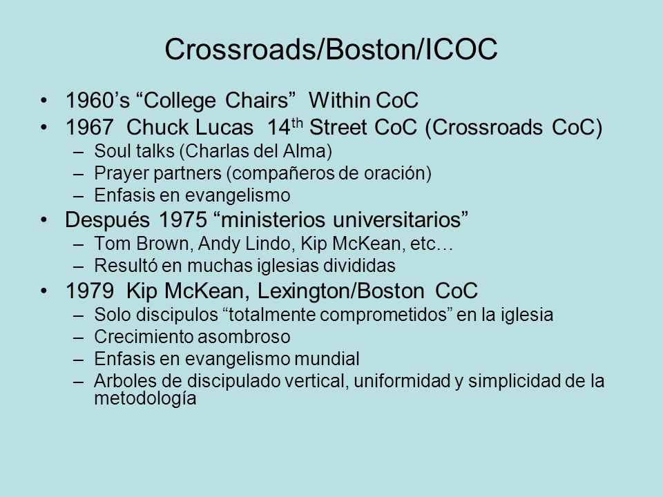 Crossroads/Boston/ICOC