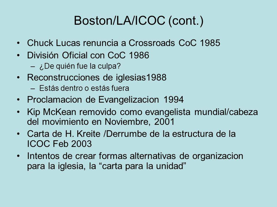 Boston/LA/ICOC (cont.)