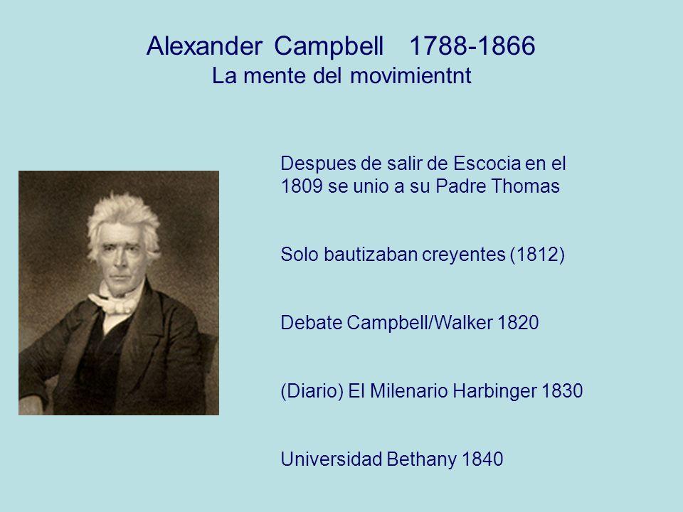 Alexander Campbell 1788-1866 La mente del movimientnt