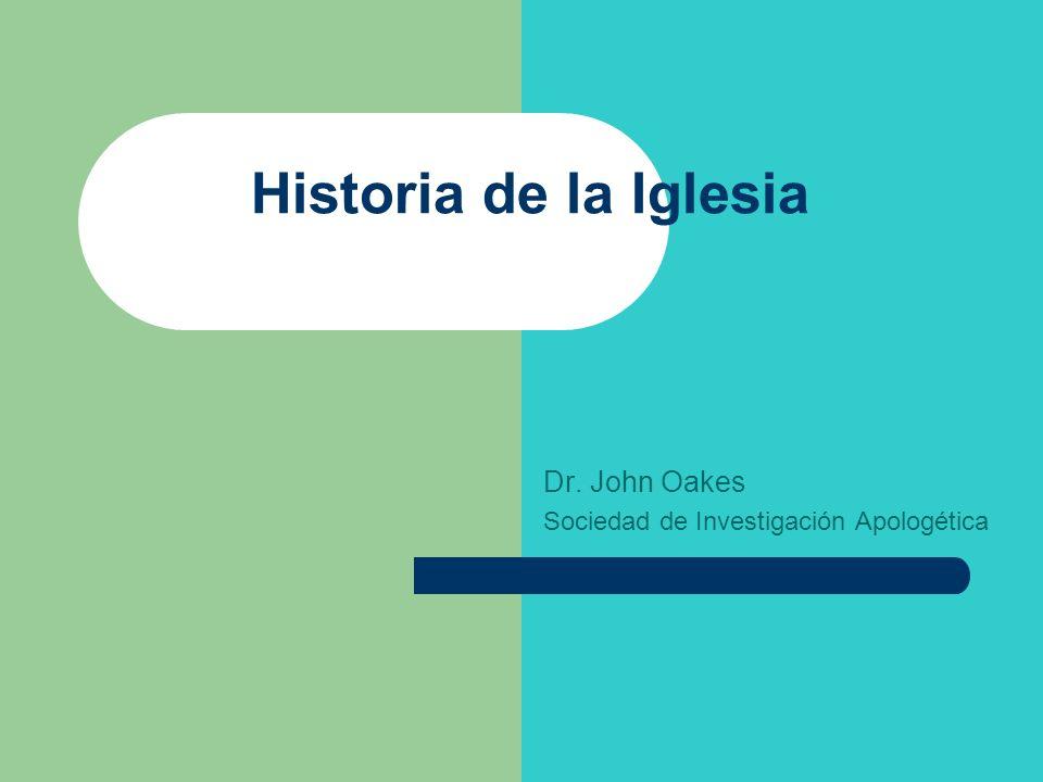 Dr. John Oakes Sociedad de Investigación Apologética
