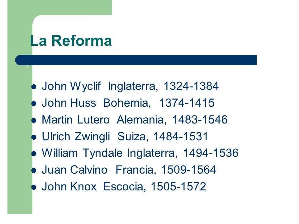 La Reforma John Wyclif Inglaterra, 1324-1384