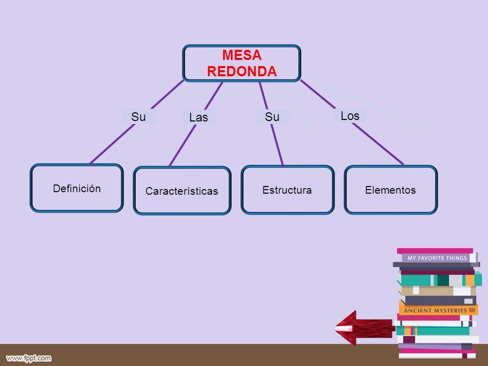 MESA REDONDA Su Las Su Los Definición Características Estructura