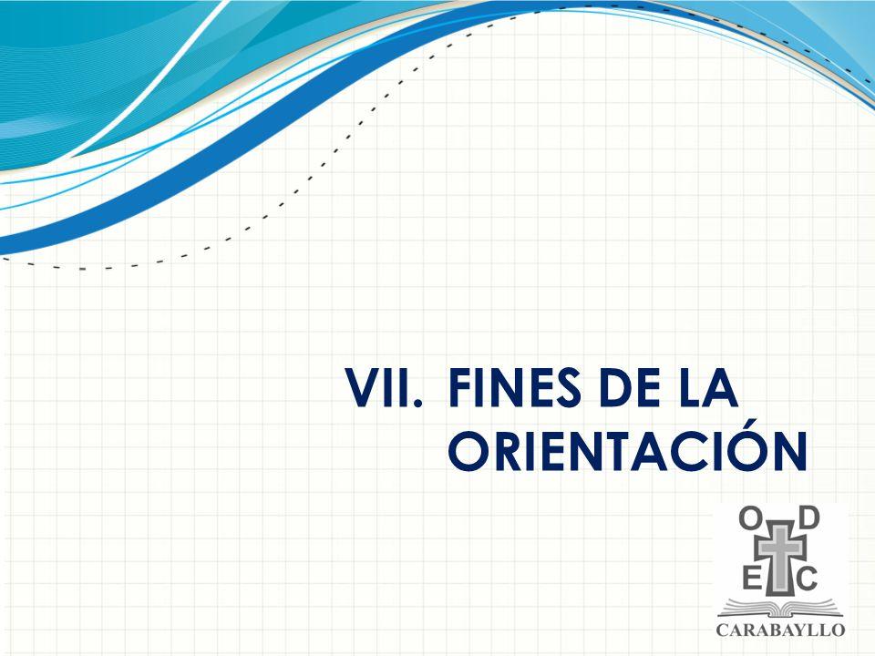 FINES DE LA ORIENTACIÓN
