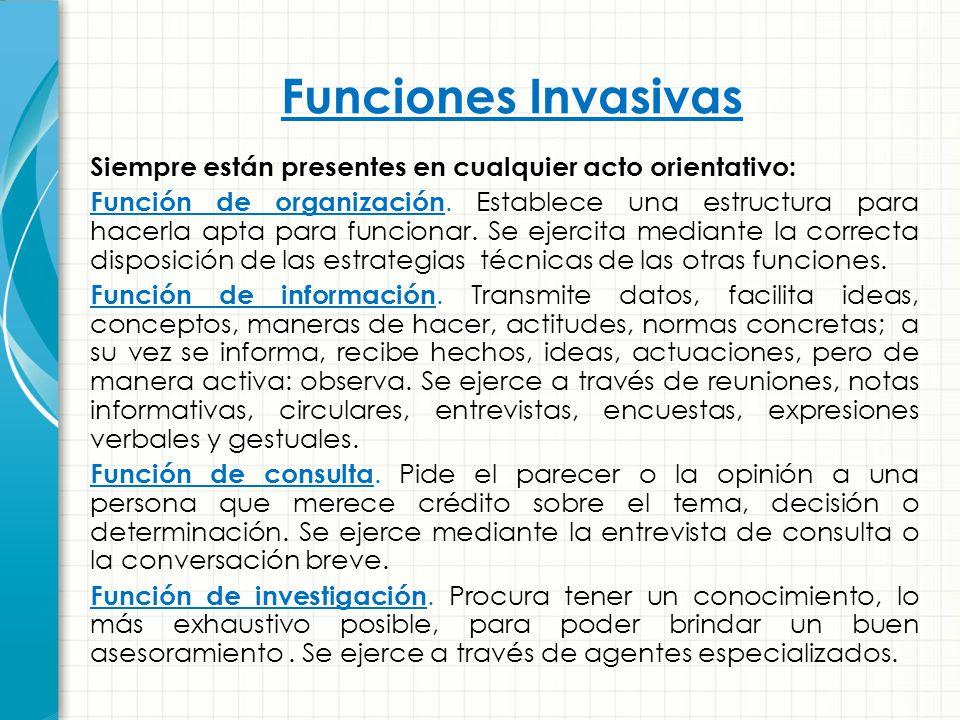 Funciones Invasivas
