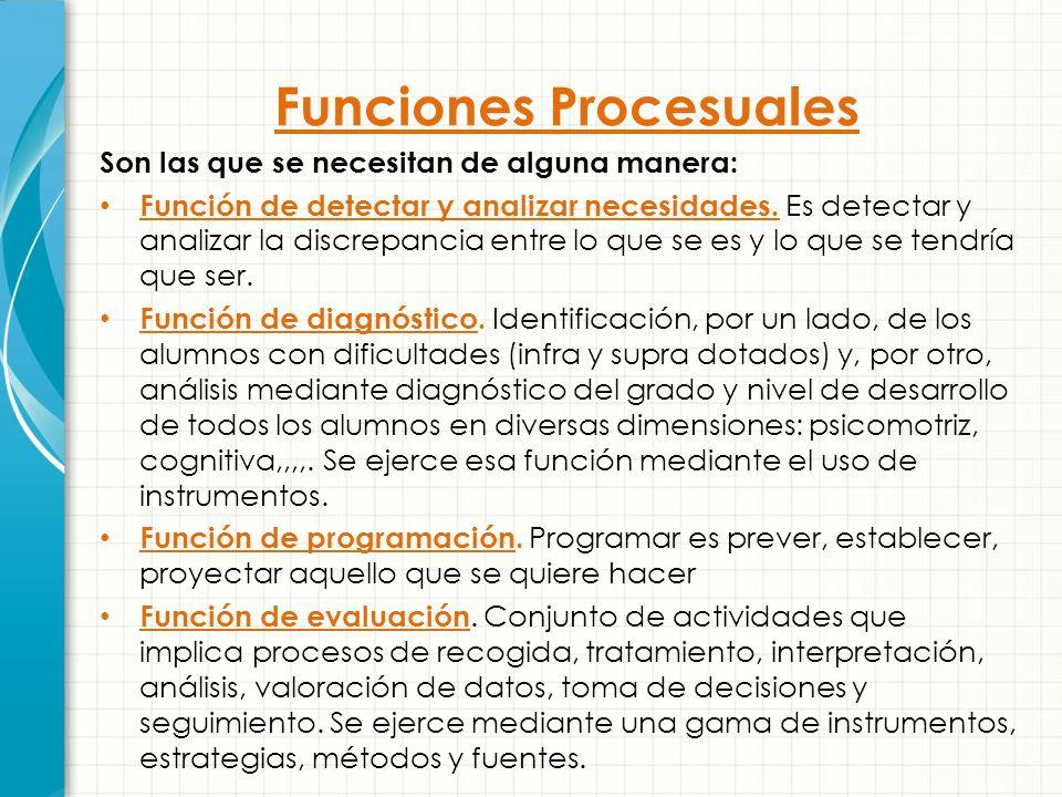 Funciones Procesuales