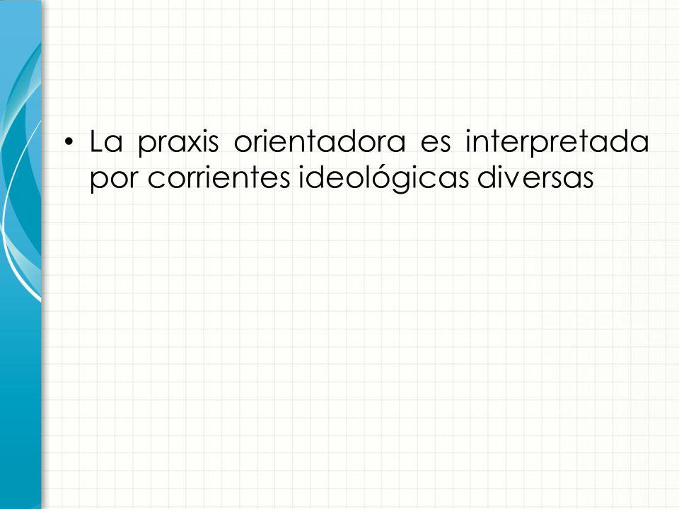 La praxis orientadora es interpretada por corrientes ideológicas diversas