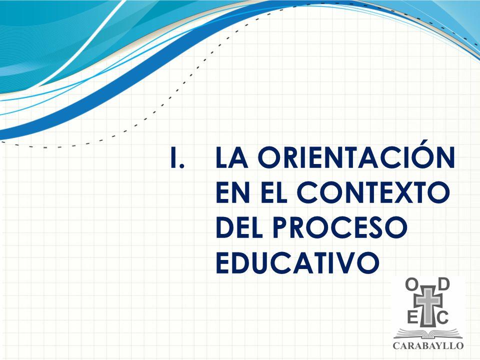 LA ORIENTACIÓN EN EL CONTEXTO DEL PROCESO EDUCATIVO