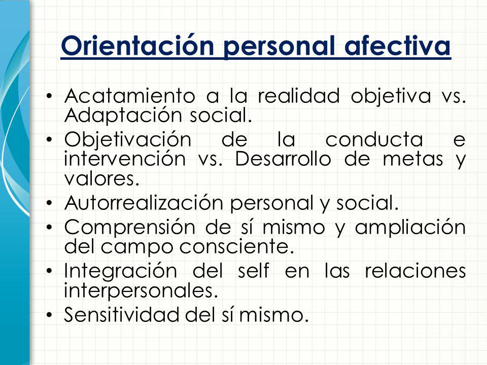 Orientación personal afectiva