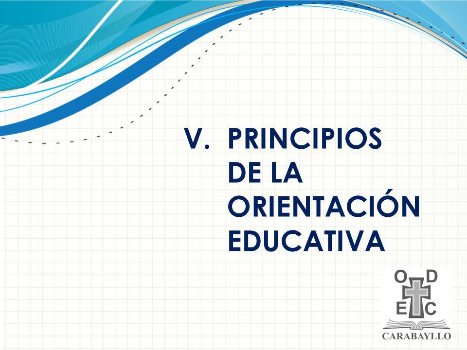 PRINCIPIOS DE LA ORIENTACIÓN EDUCATIVA