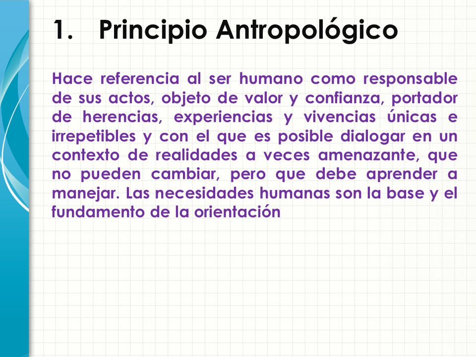 1. Principio Antropológico