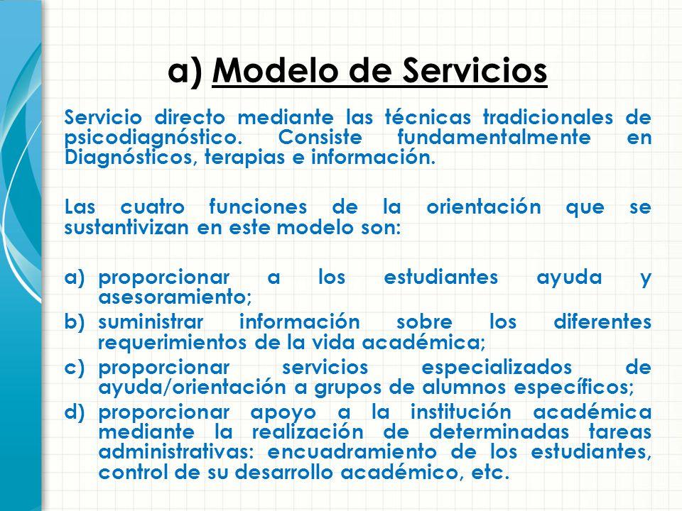 a) Modelo de Servicios