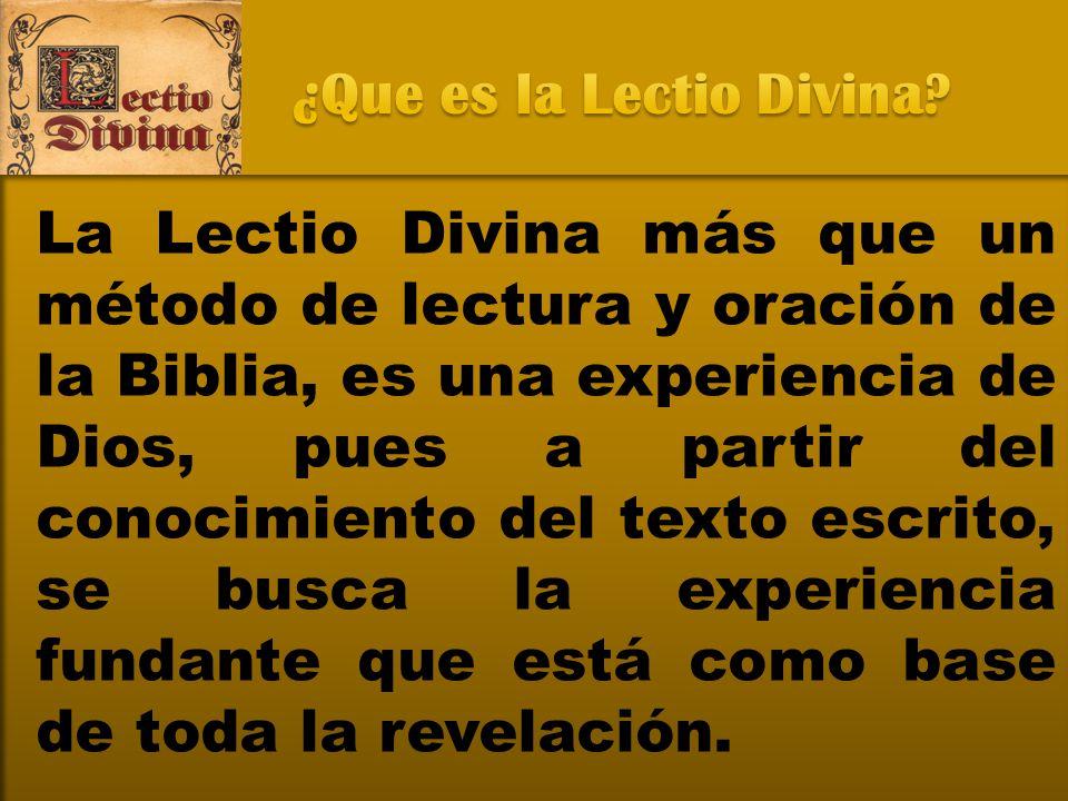 ¿Que es la Lectio Divina