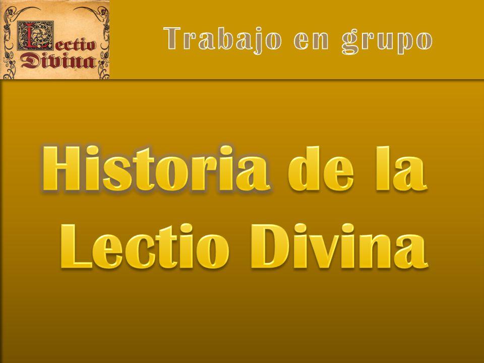 Historia de la Lectio Divina