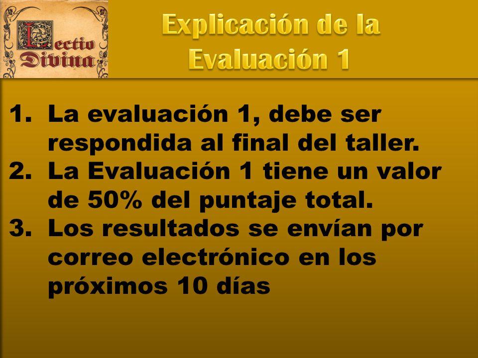 Explicación de la Evaluación 1