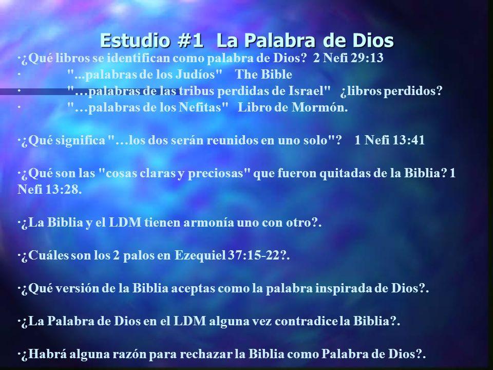 Estudio #1 La Palabra de Dios