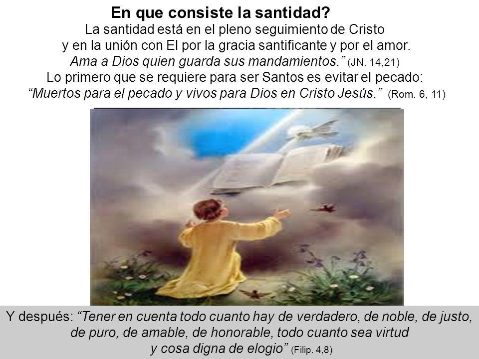 En que consiste la santidad