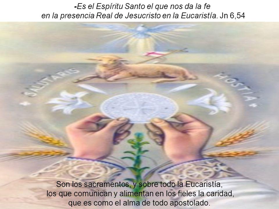 -Es el Espíritu Santo el que nos da la fe