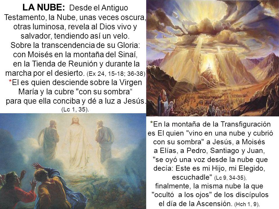 LA NUBE: Desde el Antiguo Testamento, la Nube, unas veces oscura,