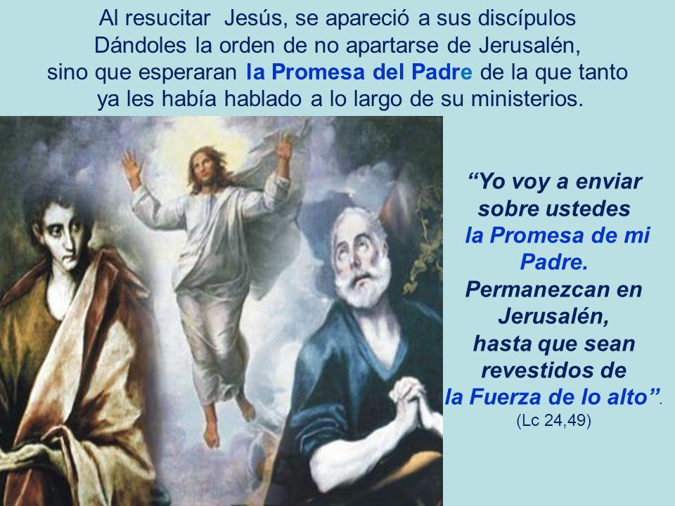 Al resucitar Jesús, se apareció a sus discípulos