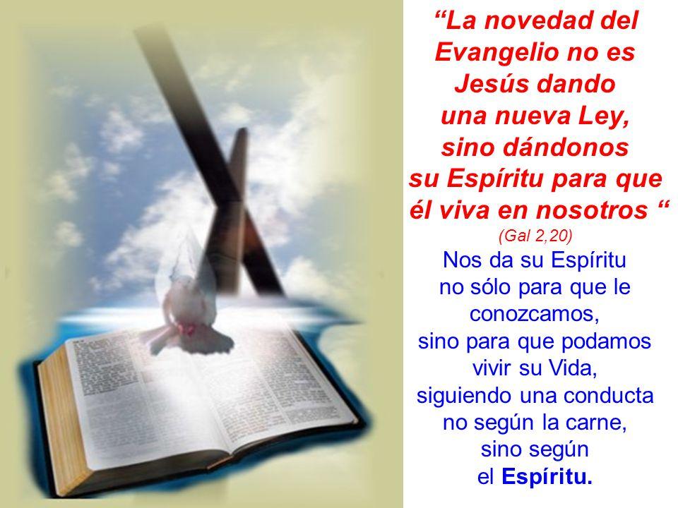 La novedad del Evangelio no es Jesús dando