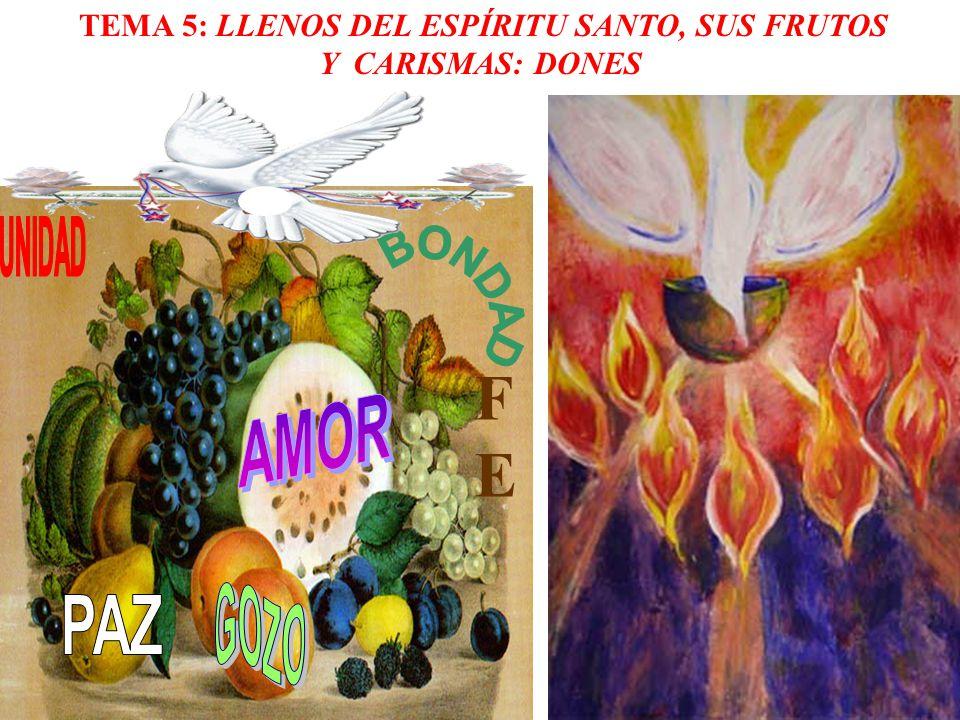 TEMA 5: LLENOS DEL ESPÍRITU SANTO, SUS FRUTOS