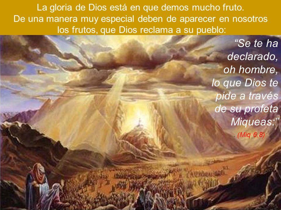 lo que Dios te pide a través de su profeta Miqueas: