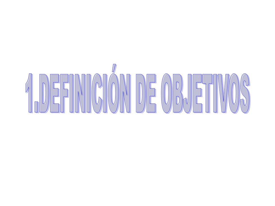 1.DEFINICIÓN DE OBJETIVOS