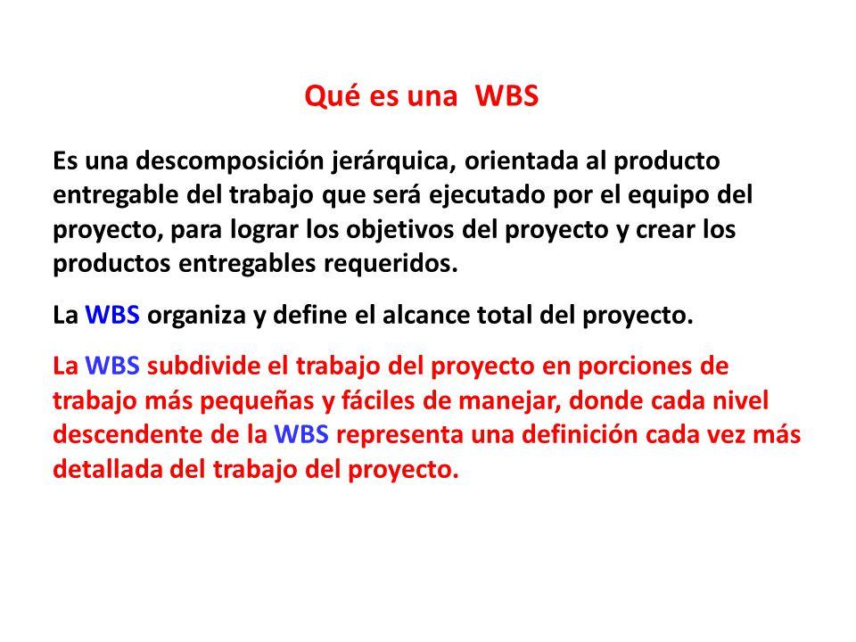 Qué es una WBS