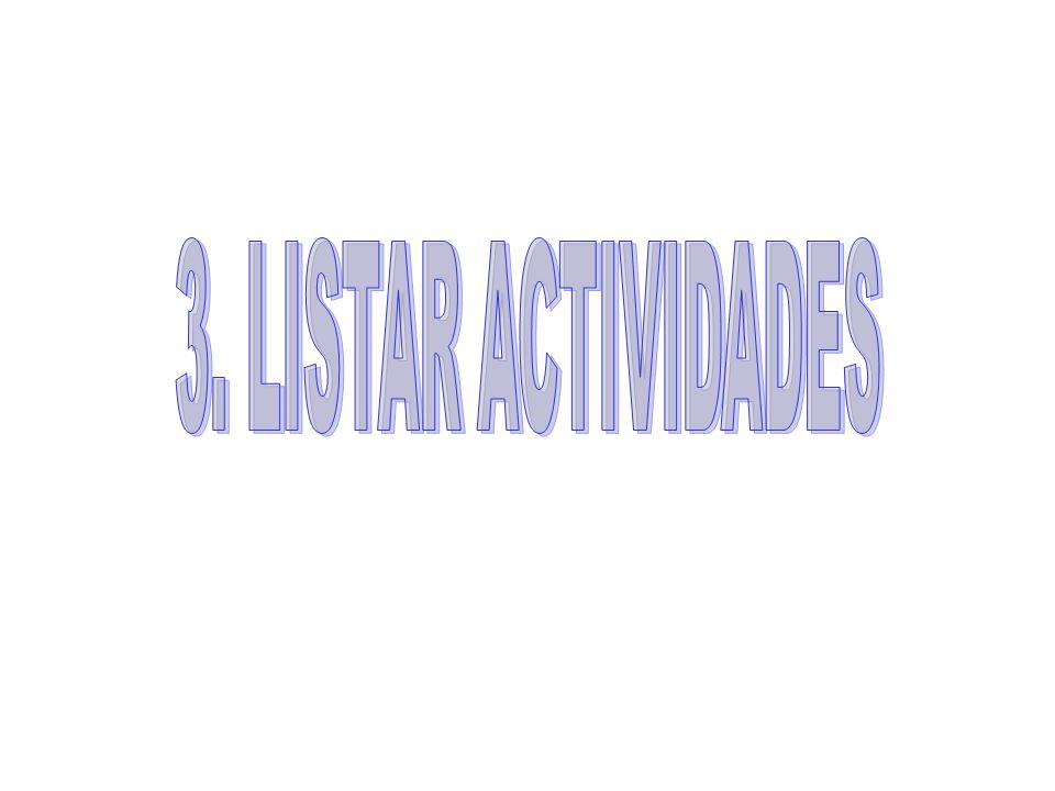 3. LISTAR ACTIVIDADES