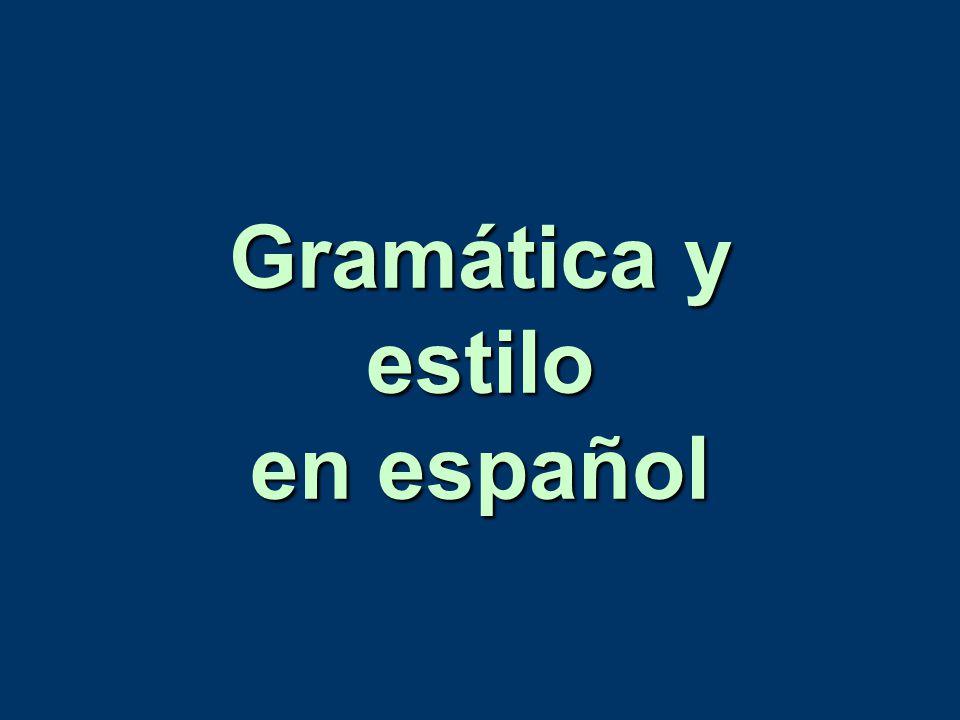Gramática y estilo en español