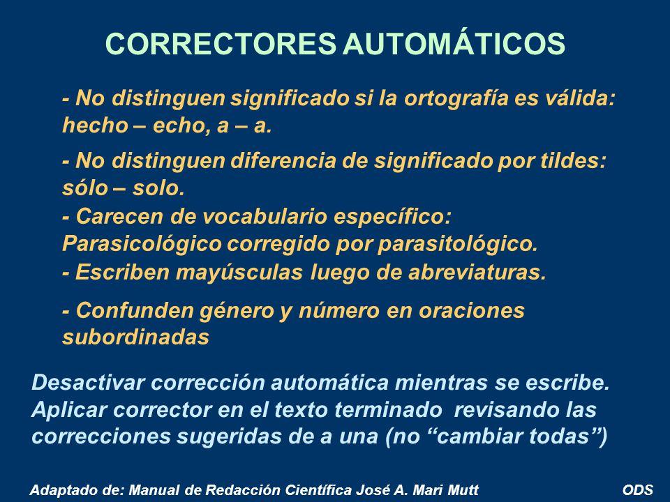 CORRECTORES AUTOMÁTICOS