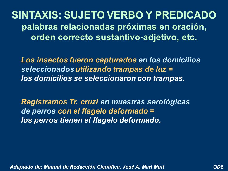 SINTAXIS: SUJETO VERBO Y PREDICADO