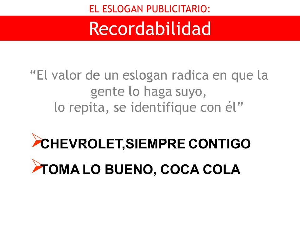 EL ESLOGAN PUBLICITARIO: